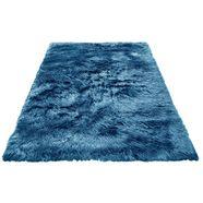 hoogpolig vloerkleed, »dena«, my home selection, rechthoekig, hoogte 60 mm, machinaal getuft blauw