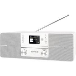 technisat digitale radio (dab+) digitradio 371 cd bt stereo cd, bluetooth, kleurendisplay, usb wit