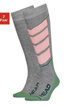 head functionele sokken met grote letters (2 paar) grijs