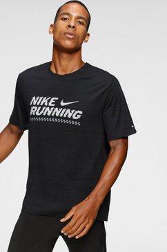 nike runningshirt »men's running top« zwart
