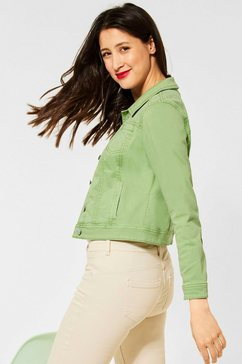 street one jeansjack roxana van gekleurd denim groen