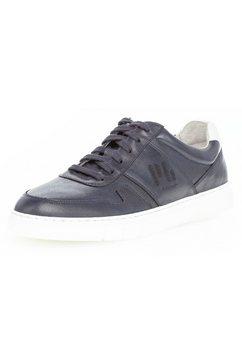 pius gabor sneakers met contrastkleurige hielinzet blauw