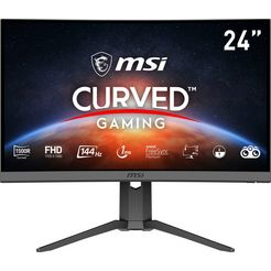 msi curved-gaming-monitor »g24c6p« (23,6 inch, 1920 x 1080 pixel, full hd, 1 ms responstijd, 144 hz) zwart