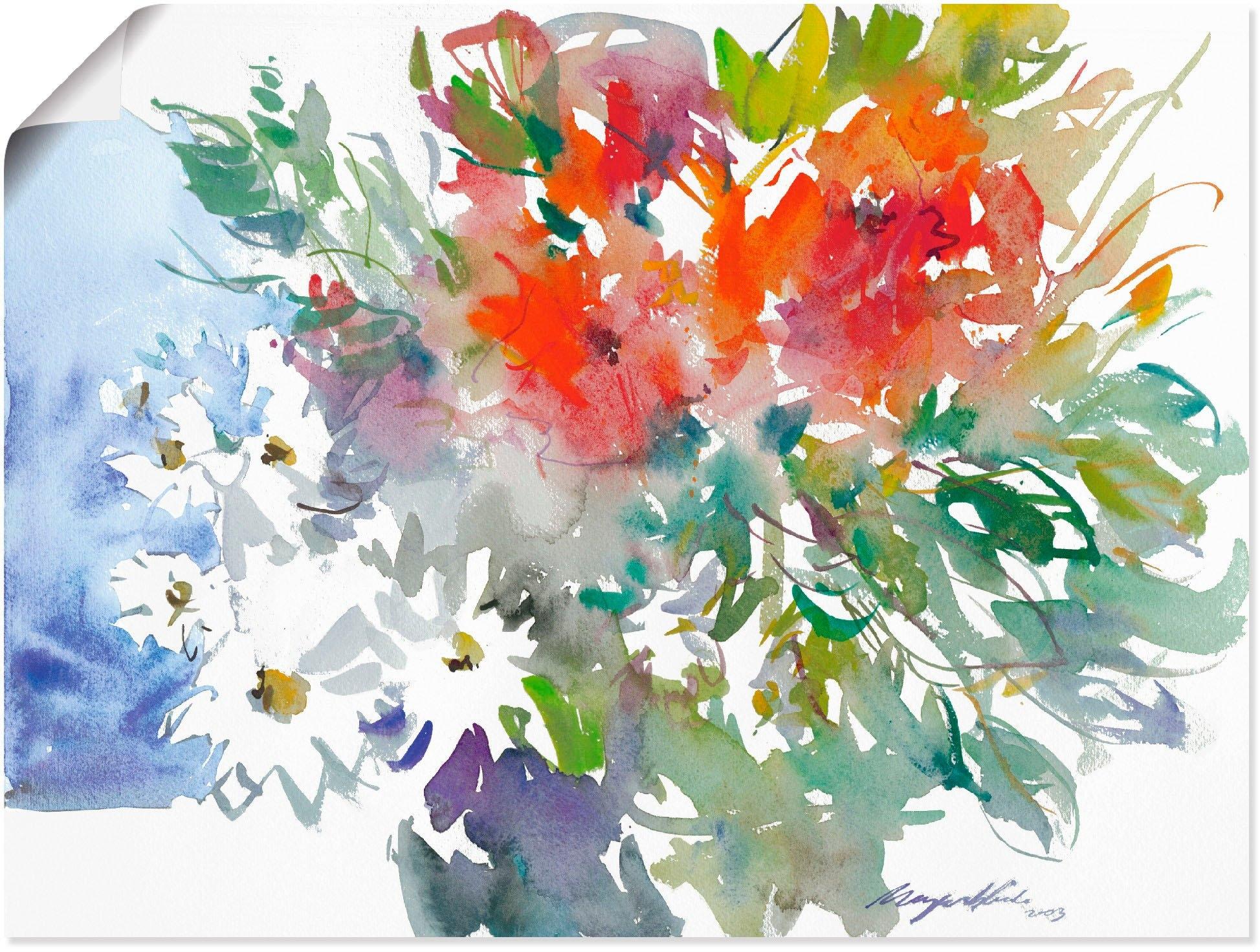 Artland artprint Bos bloemen II in vele afmetingen & productsoorten - artprint van aluminium / artprint voor buiten, artprint op linnen, poster, muursticker / wandfolie ook geschikt voor de badkamer (1 stuk) voordelig en veilig online kopen