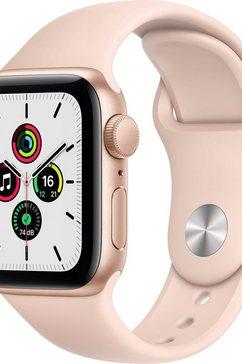 apple watch se gps, aluminium kast met sportbandje 40 mm inclusief oplaadstation (magnetische oplaadkabel) roze