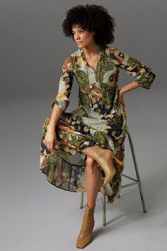 aniston casual maxi-jurk met bloemen- of patchprint - jij hebt de keuze - nieuwe collectie groen
