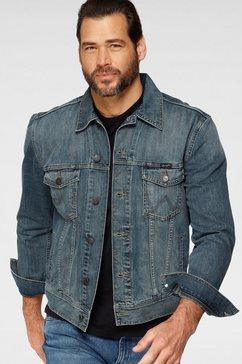 wrangler jeansjack western denim jacket blauw