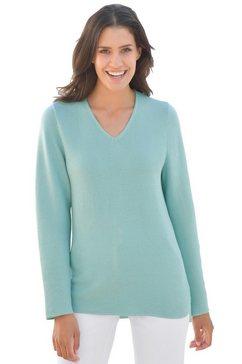 classic inspirationen trui met v-hals blauw