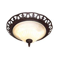 trio leuchten plafondlamp bruin