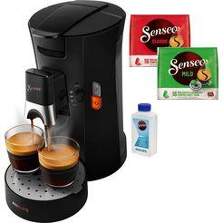 senseo koffiepadautomaat senseo select csa240-60, incl. gratis toebehoren ter waarde van € 14,- vap als extra bij het welkomstpakket (80 pads  paddoos gratis bij registratie) zwart