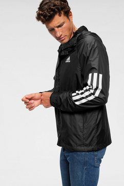 adidas performance windbreaker »bsc 3 stripes wind jacket« zwart