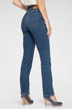 levi's straight jeans »724 high rise straigth« blauw