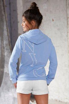 arizona hoodie met modieuze rugprint blauw
