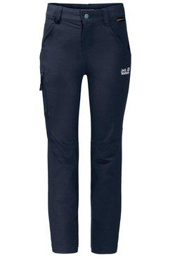 jack wolfskin softshell-broek »activate pants kids« blauw