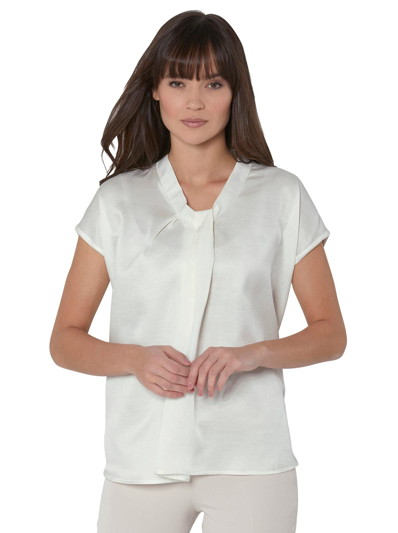 Lady Creation L Premium shirt met drapé bij de V-hals in de webshop van OTTO kopen