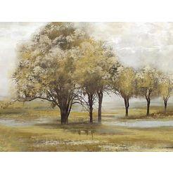 home affaire olieverfschilderij trees bruin