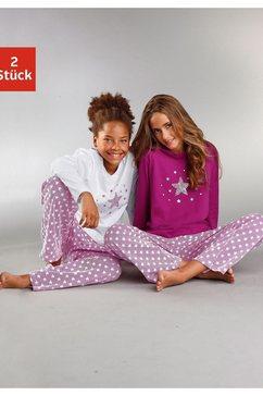 petite fleur pyjama modieuze sterrenprint op de shirts en broeken (2-delig, set van 2) multicolor