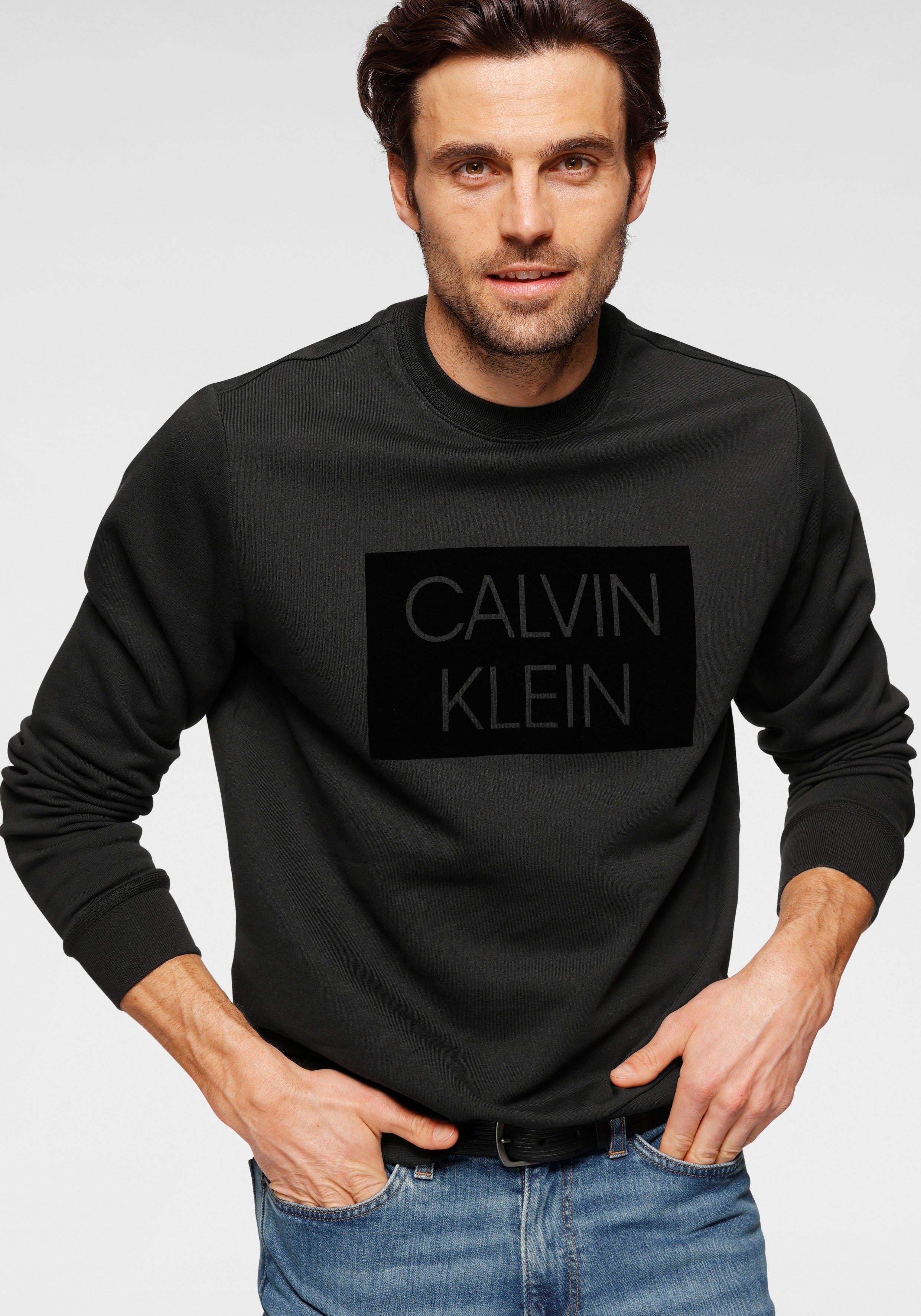Calvin Klein sweatshirt »FLOCK BOX LOGO SWEATSHIRT« veilig op otto.nl kopen