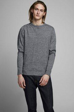 jack  jones trui met ronde hals »basic knit crew neck« blauw