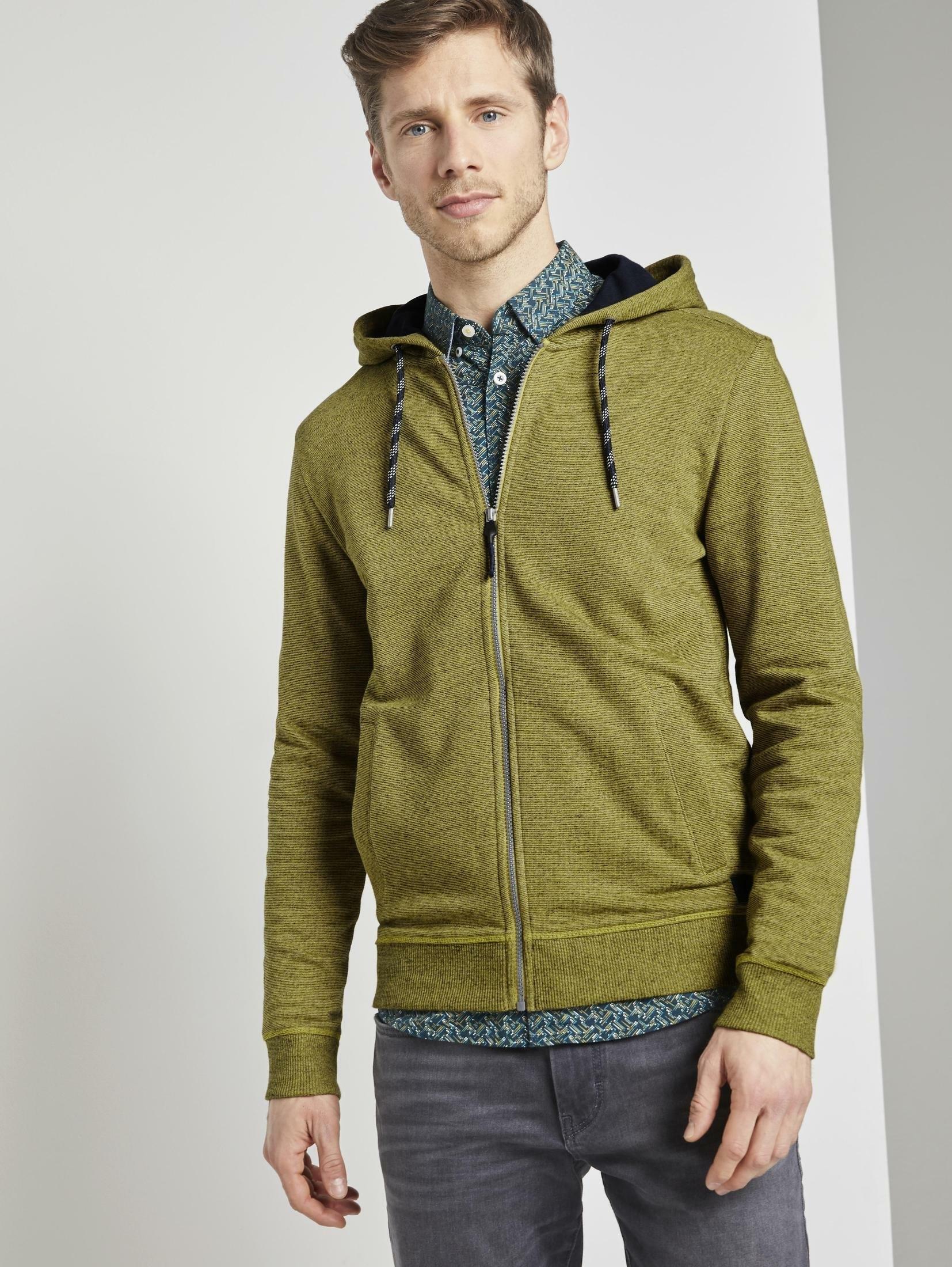 Tom Tailor hoodie »Strukturierte Sweatjacke« voordelig en veilig online kopen