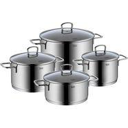 silit pannenset alicante inductie (set, 8-delig) zilver