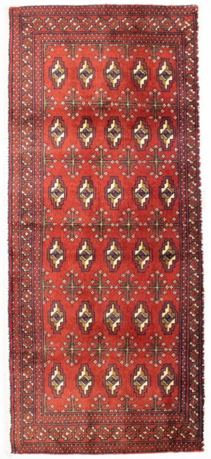 morgenland wollen kleed Turkaman vloerkleed met de hand geknoopt roest bestellen: 30 dagen bedenktijd