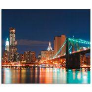 artland keukenwand new york skyline brooklyn bridge (1-delig) blauw