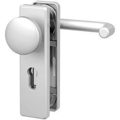 basi deurbeslag »es1 wechselgarnitur, aluminium silber, eckig«, brandwerend deurbeslag fs 2200 zilver