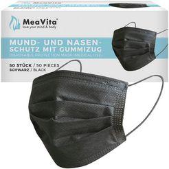 medisch mondkapje (set, 50 stuks) zwart