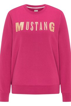 mustang sweatshirt bea c logo print