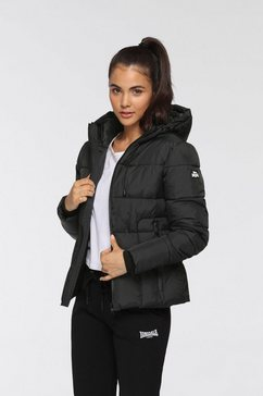 lonsdale gewatteerde jas zwart