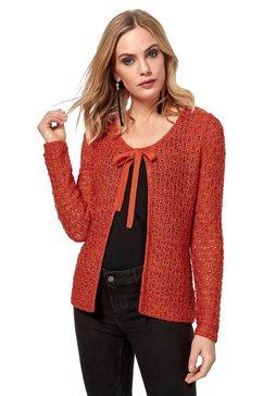 création l vest in stijlvolle mêlee-look oranje