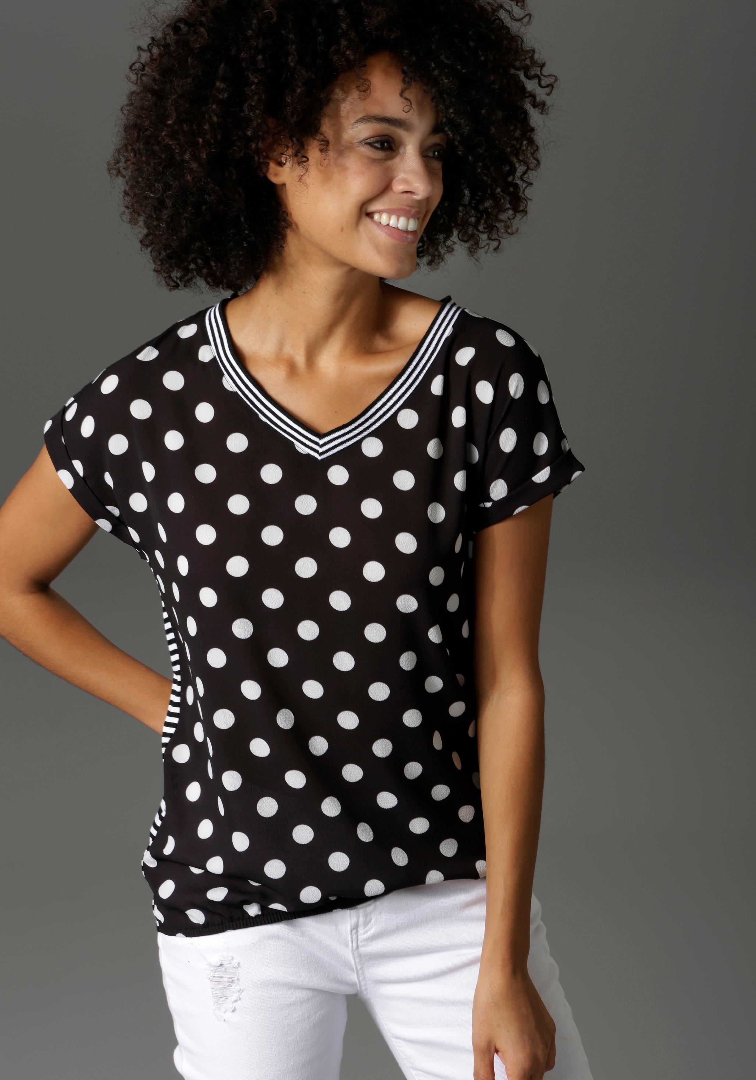Aniston CASUAL T-shirt materiaal- en motievenmix voordelig en veilig online kopen
