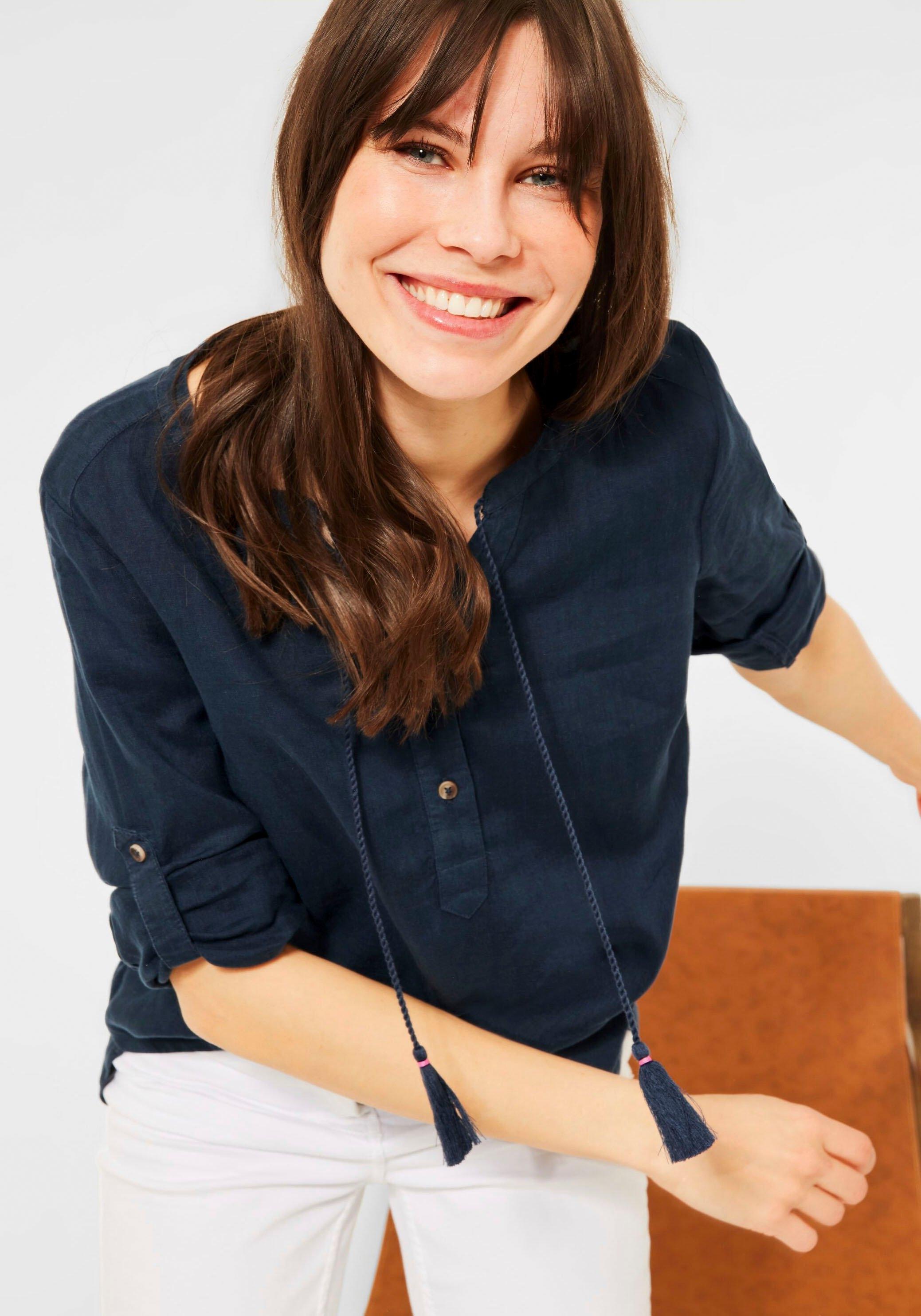 Cecil blouse zonder sluiting , linnen tuniek met omslagmouwen bij OTTO online kopen