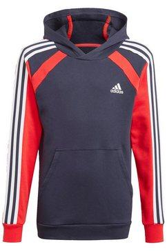adidas performance hoodie comfort colorblock blauw