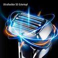 panasonic elektrisch scheerapparaat es-lv9q-s803 met ultraflexibele 5d-scheerkop, nat- en droogscheerapparaat met reinigingsstation zwart