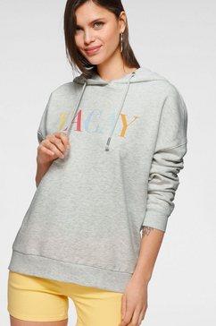 only sweatshirt met een capuchon grijs