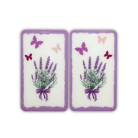 Afdekplaten Universal Lavendelboeket (2-delige set), WENKO