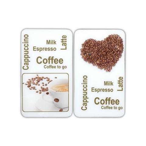 WENKO Afdekblad voor kookplaat Koffie set van 2