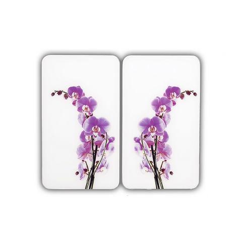 Afdekplaten Universal Orchidee bloemen (2-delige set), WENKO