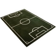hanse home kindervloerkleed voetbalveld groen