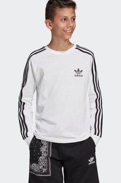 adidas originals shirt met lange mouwen »3 stripes longsleeve« wit