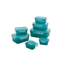gourmetmaxx vershoudtrommel (set, 7-delig) blauw