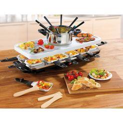 gourmetmaxx raclette en fondueset raclette- en fondueset wit