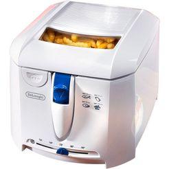 de'longhi friteuse f 27201 inhoud 1 kg, afneembare en afwasbare friteusedeksel wit