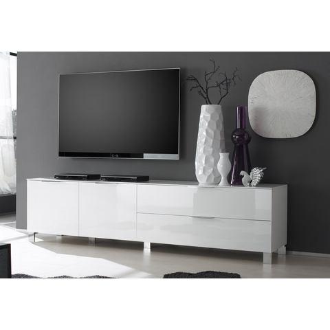 Tv-lowboard Margherita II hoogglans wit 210 cm, LC Mobili