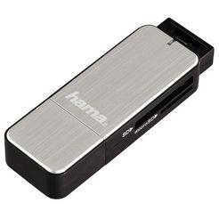 hama cardreader usb 3.0 sd-msd zilver zwart