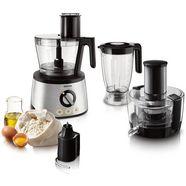 philips compacte keukenmachine hr7778-00 inclusief deeghaak, vruchtenpers, blender en citruspers zilver