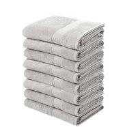 handdoek, my home, »juna«, 8-delige set grijs