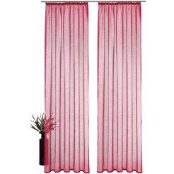 gordijn, my home, »regina«, met rimpelband (set van 2) roze